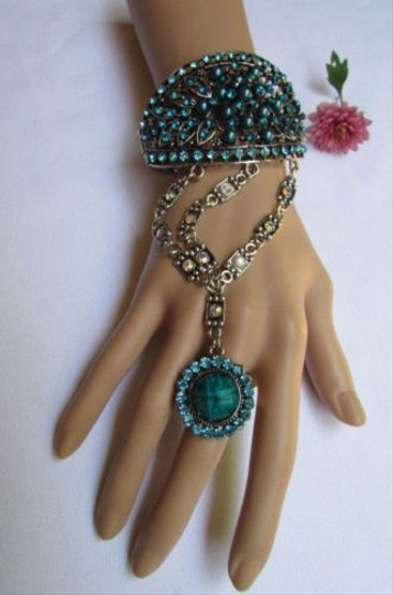 Other Women Gold Bracelet Fashion Hand Jewelry Leaves Purple Blue Green Brown Gray