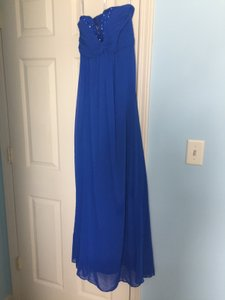 David's Bridal Horizon Blue F14867 Dress