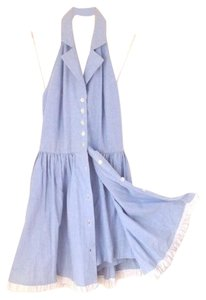 short dress Chambray blue Cotton Doll Indie Romper on Tradesy