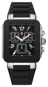 Michele NWT Michele Tahitian Jelly Bean Silver and Black watch $345