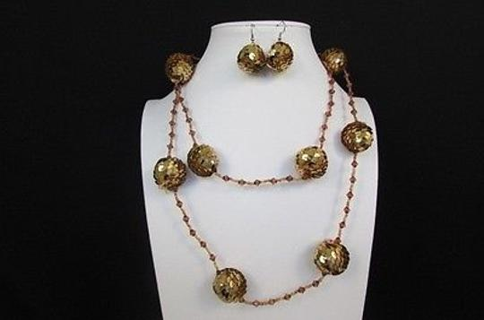 Other Women Strand Sequins Fashion Necklace Gold Silver Black Brown