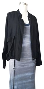 Forever 21 Bomber 90s Sheer Pocket Black Jacket