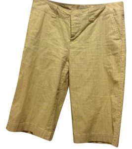 Banana Republic City Like New Shorts Tan with fine brown stripes
