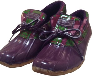 Sperry Waterproof Plum Boots