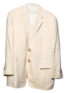 Ermenegildo Zegna Yellow Regular Fit Pale Yellow Blazer