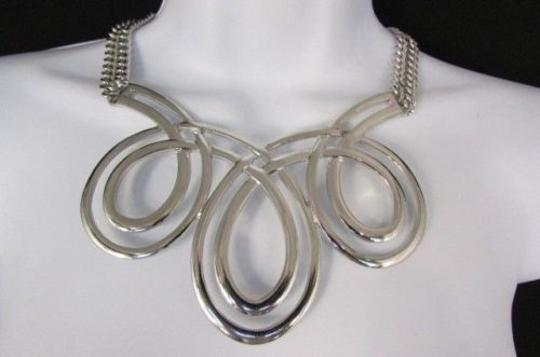 Other Women Fashion Necklace Earring Set 15 Twisted Drops Gold Silver