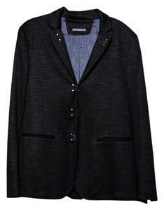 John Varvatos Grey Regular Fit Mens Charcoal Grey Blazer