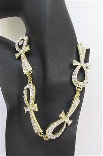 Other Women Multi Metal Egyptian Cross Pendant Necklace Gold Silver