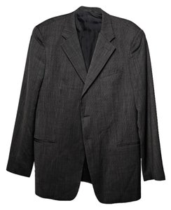 Giorgio Armani Men Regular Fit Grey Blazer
