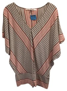 Max Studio Dolman Pet And Smoke Free Top Multi Stripe