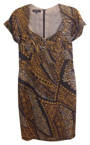 Lafayette 148 New York Silk Linen Print Dress