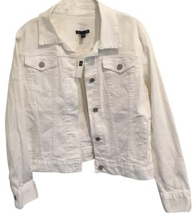 Gap Pet And Smoke Free White Womens Jean Jacket