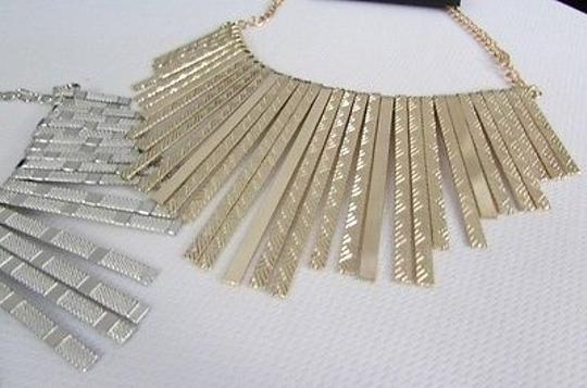 Other Women Necklace Mesh Metal Sticks Fringes Chains Gold Silver