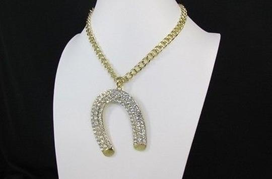 Other Women Metal Chains Horse Shoe Fashion Necklace Gold Silver