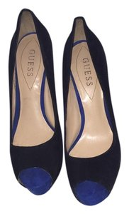 Guess Peep Toe Platform Black, Green, Cobalt Pumps