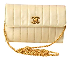 Chanel Beige Quilted Flap Shoulder Bag