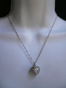 Other Women Love Pearl Silver Mini Heart Pendant Necklace Sea Pearl Shell Box Gift