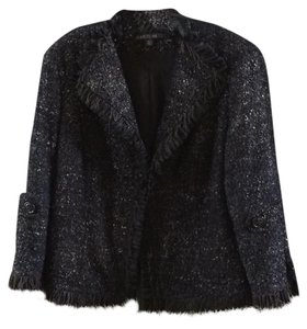 Lafayette 148 New York Black and Copper Blazer