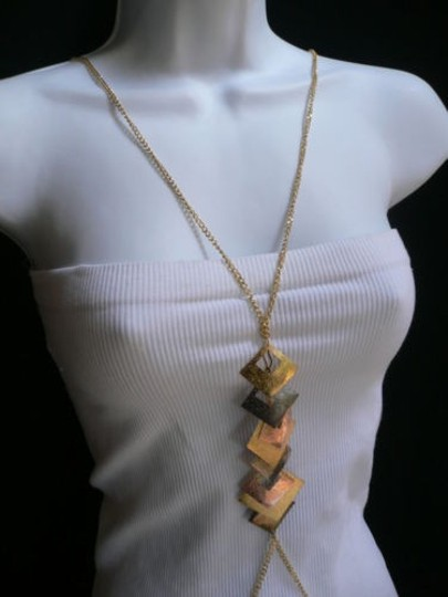 Other Women Rose Gold Body Pewter Chain Necklace Fashion Jewelry