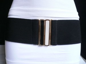 Women Belt Fashion Summer Black Hip Waist Black White Gold Buckle S-m-l