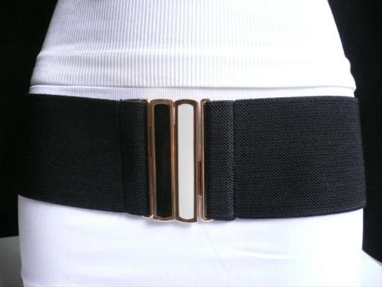 Other Women Belt Fashion Summer Black Hip Waist Black White Gold Buckle S-m-l