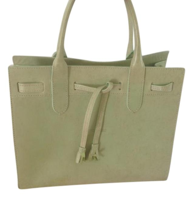 Item - Bag Light Green Leather Tote