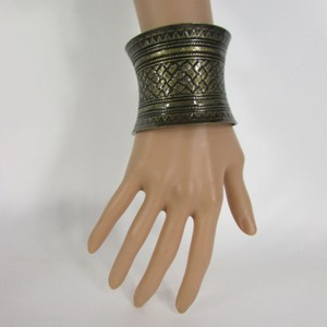 Other Women Antique Dark Rusty Gold Metal Cuff Mozaik Bracelet Fashion Jewelry