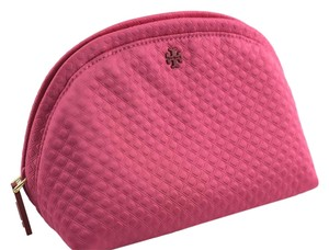 Tory Burch Tory Burch Neoprene Rounded Cosmetic Case - Pink