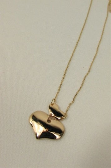 Other Women Mini Metal Two Mini Hearts Chains Fashion Necklace Gold Silver Love