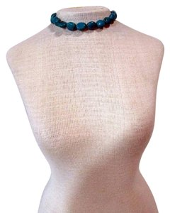 Codigo Turquoise Stone Beaded Choker Necklace