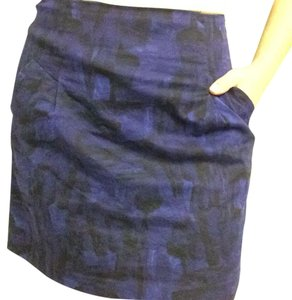 Theory Mini Skirt Purple/black