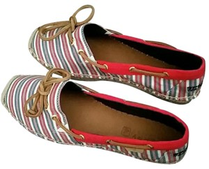 Sperry Red/Blue/Creme Flats