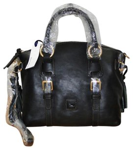 Dooney & Bourke Leather Bristol Satchel in Black