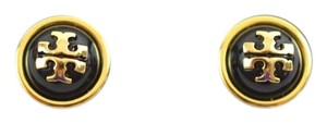Tory Burch Tory Burch Melodie Stud Dome Earrings, Black/Gold