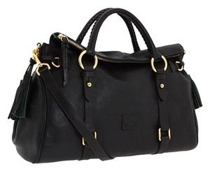 Dooney & Bourke Leather Satchel in Black