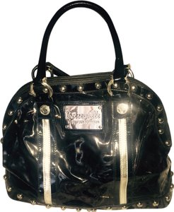 Betseyville by Betsey Johnson Satchel in Black And Silver