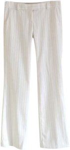 Guess Workwear Pinstripe Trouser Pants Off White