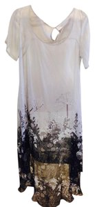 Indie Soul Cocktail Silk Long Hi-lo Sheer Dress