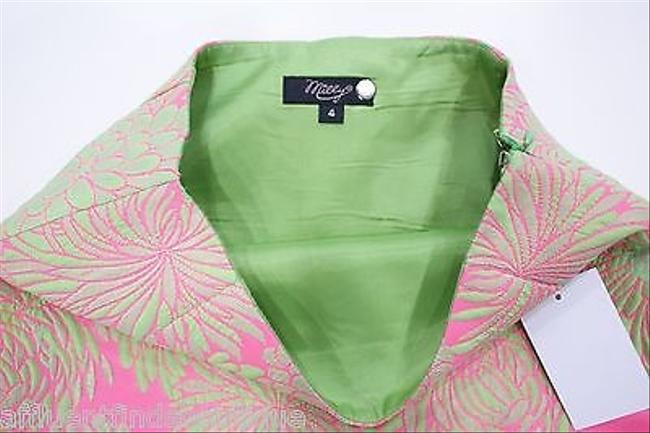 MILLY Pink Green Floral 24 Mini Skirt Multi-Color