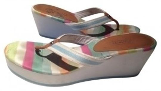 Preload https://item4.tradesy.com/images/coach-whitemulticolor-sole-felecia-flip-flop-wedges-size-us-10-regular-m-b-19323-0-0.jpg?width=440&height=440