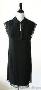 3.1 Phillip Lim short dress Black Silk Chiffon Sleeveless Shift on Tradesy