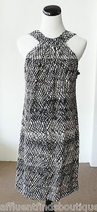Worth short dress Multi-Color Petite Black White Silk 4p on Tradesy