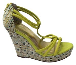 Seychelles Wedge Lime Chartreuse Green Platforms