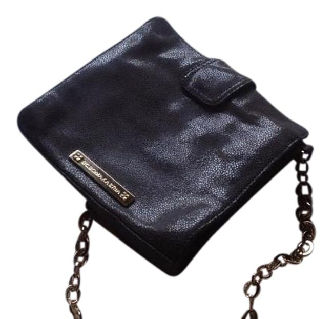 Item - Embossed Shoulder / Gray Sueded Leather Cross Body Bag