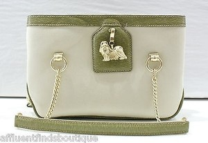 Kieselstein-Cord Limited Edition Greennatural Maltese Dog Bone Handbag Shoulder Bag