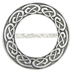 Ldycrow Pewter Scarf Ring - Celtic Knot