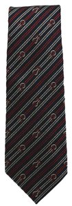 Gucci Gucci Woven Cormorant Navy Stripped Necktie