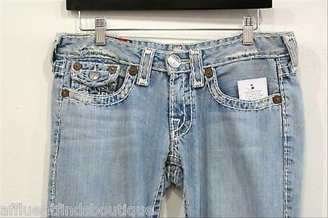 True Religion Joey Super T Distressed Style Or Flare Leg Jeans