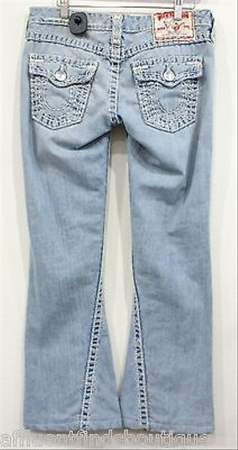 True Religion Joey Super Distressed Style Or Flare Leg Jeans