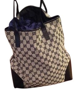 Gucci Signature Leather & Canvas Its A Deal Not Much Usage Hobo Bag